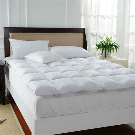 down feather bed hot sales 100 duck down feather bed mat 100 cotton