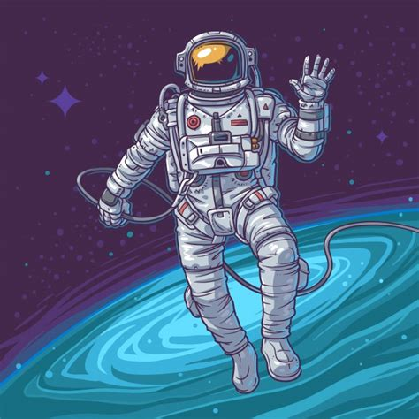 picture illustration vector illustration cosmonaut vector free download