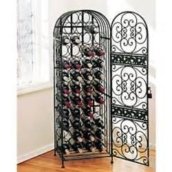 wine rack is wrought iron 45 bottle wine furniture