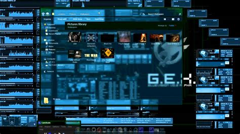 pc themes for hackers my desktop systems hackers free all avi youtube