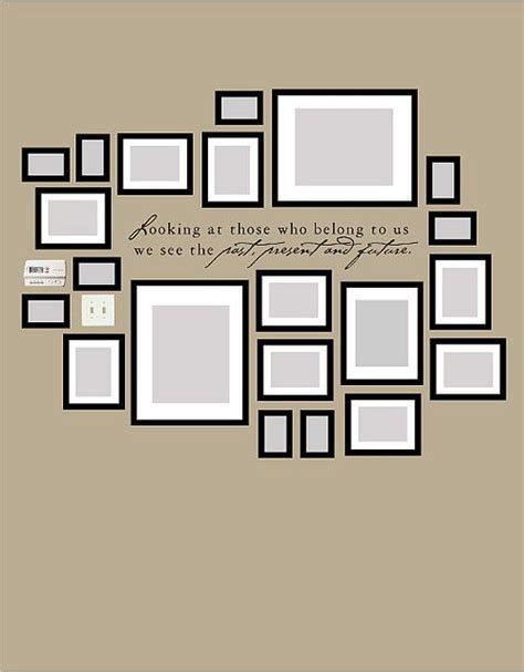 layout photo frames wall with quote family wall wall collage and walls