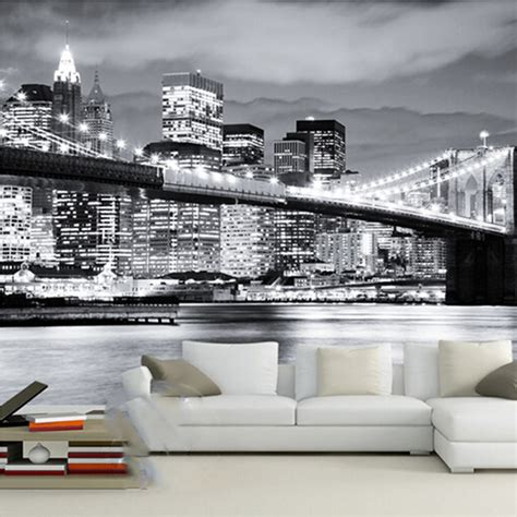 wallpaper store manhattan aliexpress com buy custom 3d photo wallpaper modern city