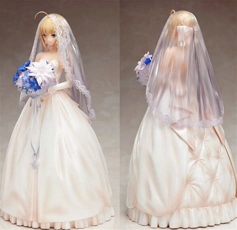 Pvc Anime Fate Stay Fate Ccc Saber Dress Ver anime fate stay saber wedding dress ten anniversary edition pvc figure collection model