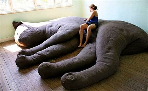 Giant Sleeping Cat Couch Unique Furniture And Large