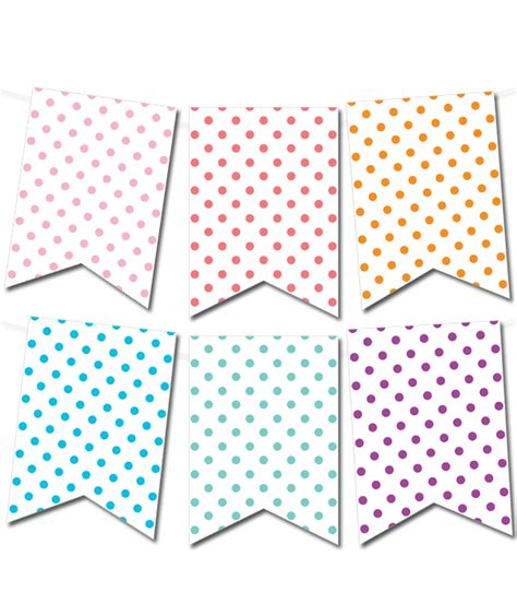 make a printable birthday banner free printable polka dot pennant banner from