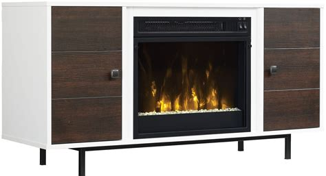 International Electric Fireplace by Classicflame High Gloss White Ridgeville Tv Stand With