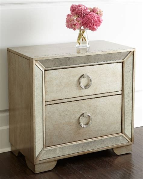 Antiqued Mirrored Nightstand by Must Mirrored Nightstands To Glam Up Your Bedroom