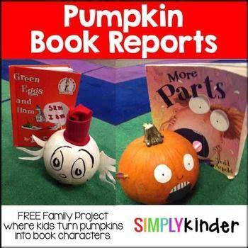 pumpkin book report characters pumpkin book report pumpkin book projects