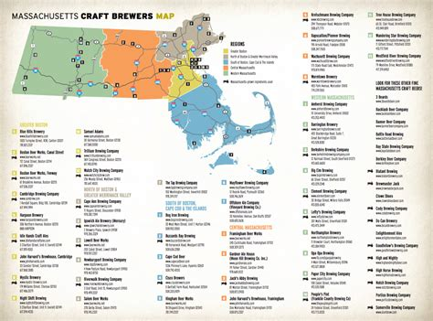 breweries map craft breweries in massachusetts craft breweries ma