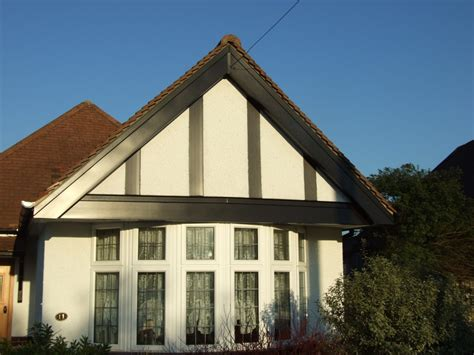 Tudor House by Installation Of Black Mock Tudor Upvc Fascias Soffits