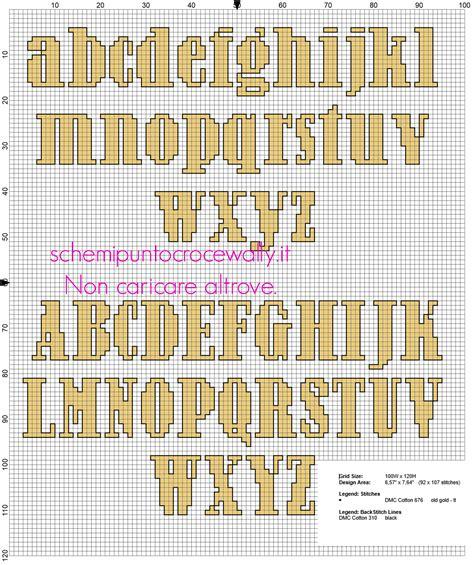 punto e croce lettere alfabeto punto croce lettere minuscole e maiuscole per