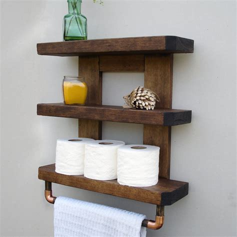 Wood Shelves Bathroom by Bathroom Shelf