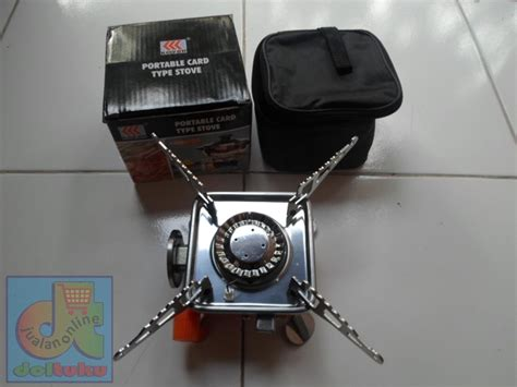 Kompor Gas Stove jual kompor gas mini portable card stove cing outdoor