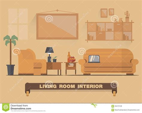 planning room living room interior element flat design earth tone