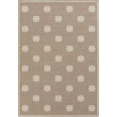 weavers outdoor rugs artistic weavers baxter taupe 6 ft x 9 ft indoor outdoor area rug s00151001437 the home depot