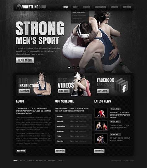 bodybuilding website template 38804