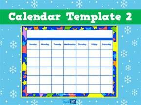 Calendar Template 2   Printable Classroom Displays