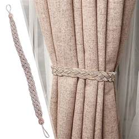 rope curtains 1 pair of braided tiebacks tie back rope curtains