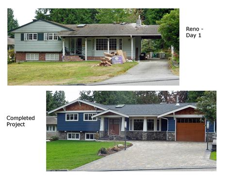 before and after photos renovation of 1960 s split level