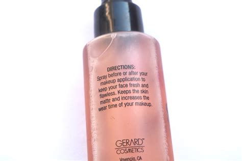 Gerard Slay All Day Setting Spray gerard cosmetics slay all day makeup setting spray review directions makeup and forever