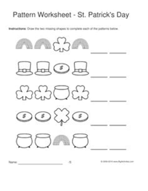 pattern drawing worksheet 1000 images about st patrick s day on pinterest st