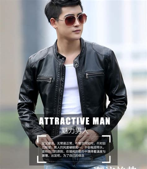 Jaket Leather Casual Style 31 leather jacket casual motorcycle leather jacket mens fashion veste en cuir genuine