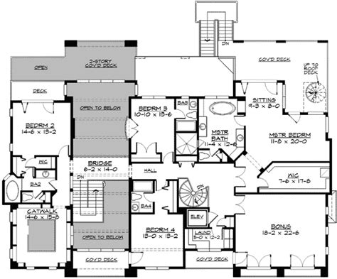 Two Story Library And More 23411jd 2nd Floor Master Two Story House Plans Elevator