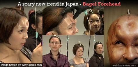 bagel the trend in modification modification bagel forehead a scary new trend in