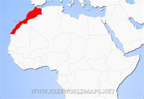 world map of morocco where is morocco located on the world map