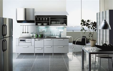 white metal kitchen cabinets steel colored kitchen design by tayokitchen digsdigs