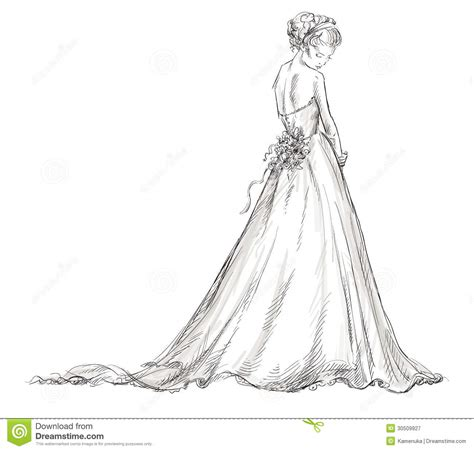 braut zeichnung drawn wedding wedding dress pencil and in color drawn