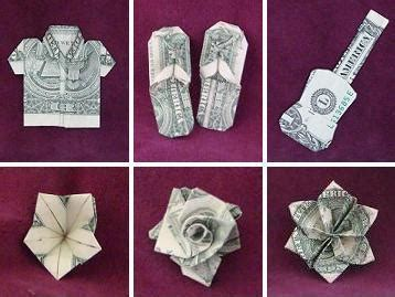 Dollar Bill Flower Origami - hawaiian style money folds the guide to