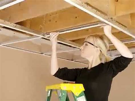 installing drop ceiling cgc inc how to install a suspended ceilings system