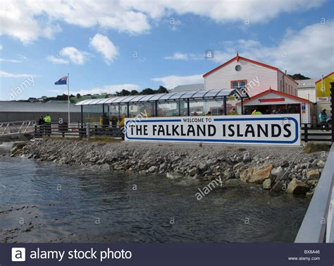 history of the falkland islands wikipedia the free pier with sign and flag quot the falkland islands quot port