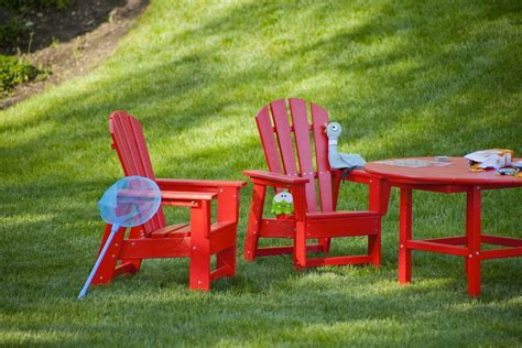 Recycled Plastic Chairs Casual Recycled Plastic Adirondack Chair By Polywood