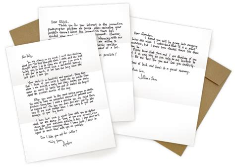 Handwritten Letter Service Uk Happiness Is November 2012