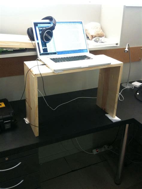 simple standing desk converter and free ways to convert an existing desk into a