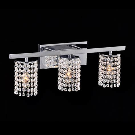crystal bathroom sconce lighting chrome crystal 3 light round shade wall sconce lighting
