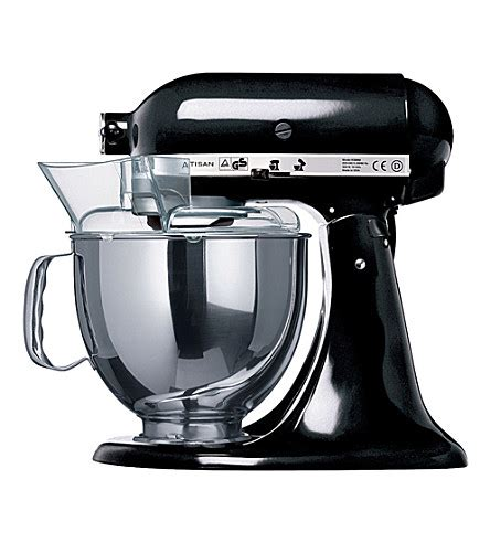 all black kitchen aid kitchenaid artisan mixer onyx black selfridges com