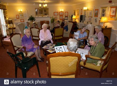 group  elderly people  communal lounge   age