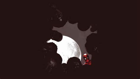 Wallpaper Minimalist by Deadpool Marvel Moon Night Zombie Superhero Wallpaper