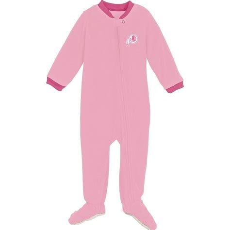 Sleeper Pajamas by Washington Redskins 18 Month Pink Sleeper Infant