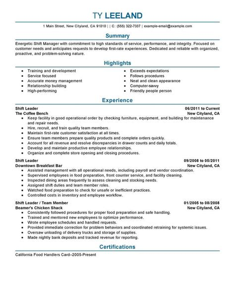 resume exle 11 amazing management resume exles livecareer