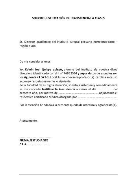 modelo de carta para justificar inasistencia mensajes formato solicitud para justificar inasistencias a clases