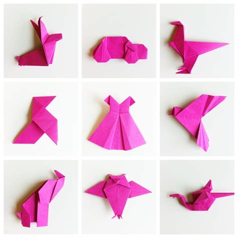 Shaped Paper Folding - easy origami shapes origami shape