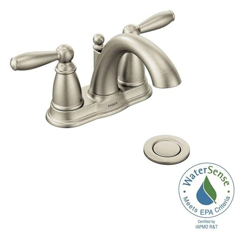 moen caldwell bathroom faucet brushed nickel