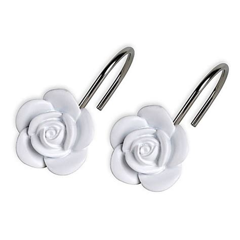 rose shower curtain hooks keila rose shower curtain hooks set of 12 bed bath