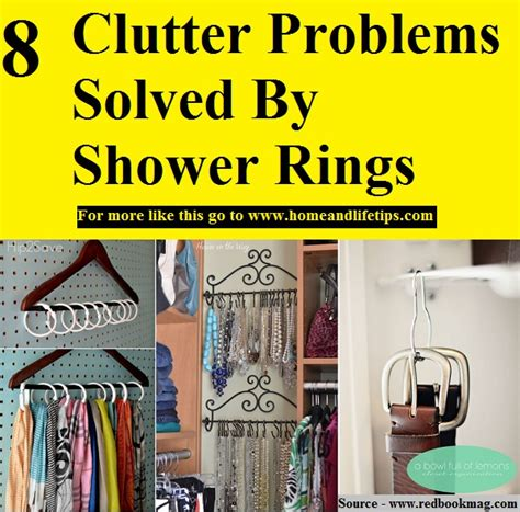 8 problems that can be easily solved by machine learning 8 clutter problems solved by shower rings home and life tips