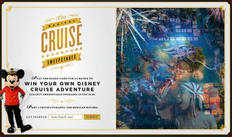 Free Disney Cruise Sweepstakes - disney cruise line the magical cruise sweepstakes