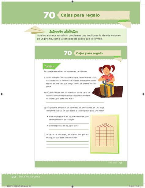 pagina 126 de matematicas 6 grado exolicacion desaf 237 os docente 6 176 primaria by escuelas de tiempo
